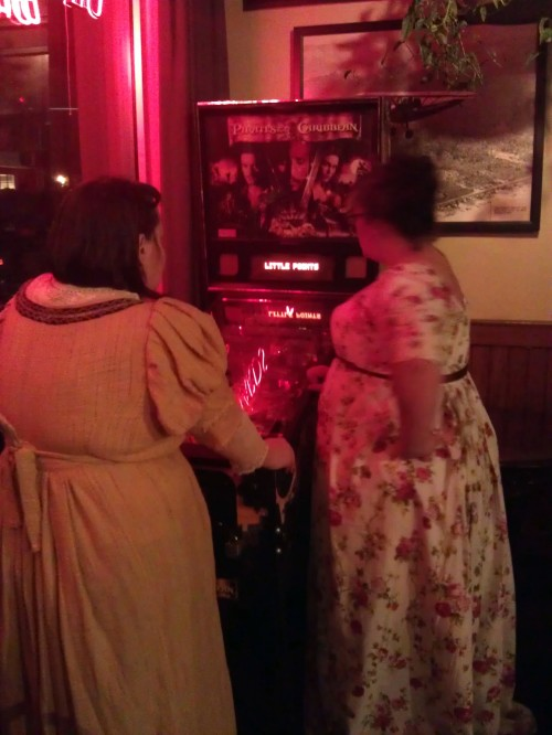 Regency ladies play Pirates of the Caribbean